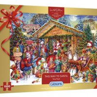 Gibsons Jigsaw Puzzle Christmas Limited Edition Puzzle- This Way to Santa 1000 pieces