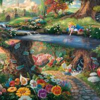 Schmidt Jigsaw Puzzle Thomas Kinkade: Disney Alice in Wonderland 1000 pieces