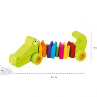 Wooden Crocodile Pull Along 12 Months +