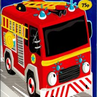 Fire Engine  Birthday Card 75p
