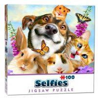 Mini Selfie Puzzle – Pets 100 pieces