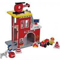Wooden Small Rescue Playset