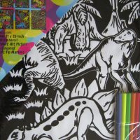 Colour Felt Colouring Poster Dinosaurs