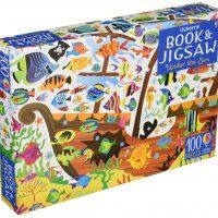 An Usborne Jigsaw with a Book Under the Sea 100 pieces