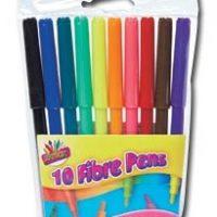 10 Fibre Pens Hang Pack
