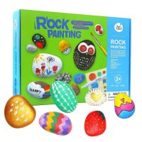 Jar Melo Rock Painting Set with Acrylic Paints & Brushes