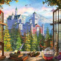 Schmidt Jigsaw Puzzle View of the Fairytale Castle 1000 pieces