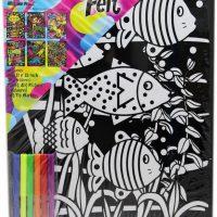 Colour Felt Colouring Poster Fish