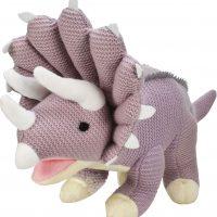 Knitted Triceratops 19 inches
