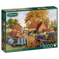 Autumn On The Farm Falcon De Luxe Puzzles 1000 Piece Jigsaw Puzzle