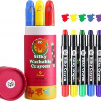 Silky Washable Crayon – Baby Roo 6 Colours