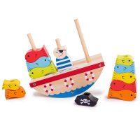 Bigjigs Wooden Rocking Pirate Boat