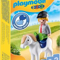 Playmobil 1.2.3 Boy with Pony for 18+Months 70410