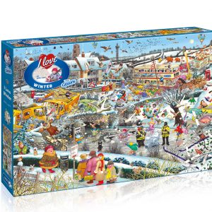 Gibsons I Love Winter 1000Pc Rectangular  Jigsaw Puzzle Toys