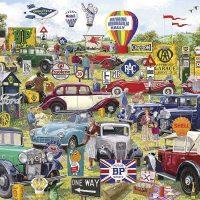 Gibsons Jigsaw Puzzle Motoring Memorabilia 1000 pieces