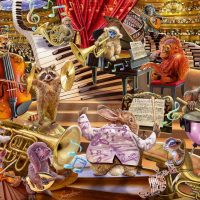Schmidt Jigsaw Puzzle Steve Sundram: Music Mania 1000 pieces