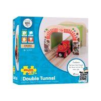 Bigjigs Double Tunnel Wooden Train Set Accessory