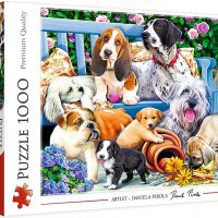 Dogs In the Garden Jigsaw Puzzle 1000 Pieces