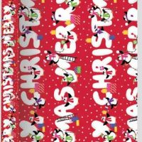 3 Metre Extra Wide Red Christmas Wrapping Paper Recyclable