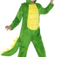 Large Crocodile Costume, Green (Age 10-12)