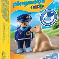 Playmobil 1.2.3 Police Officer and Dog 18+ months 70408