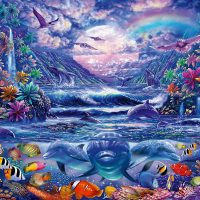 Schmidt Jigsaw Puzzle Moonlit Oasis 1000 pieces