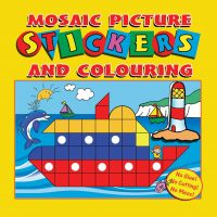 Mosaic Picture Stickers and Colouring Book (Yellow Cover)