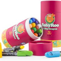 Silky Washable Crayon  – Baby Roo 12 Colours