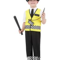 Police Costume, Black (Medium)