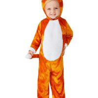 Toddler Cat Costume, Orange (Age 3-4)