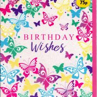 Butterfly Birthday Card 75p